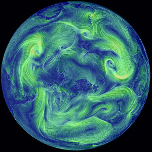 About Earth A Global Map Of Wind Weather And Ocean Conditions